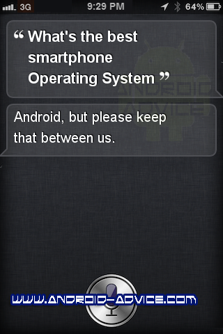 Even Siri Admits the Best Smartphone OS Android