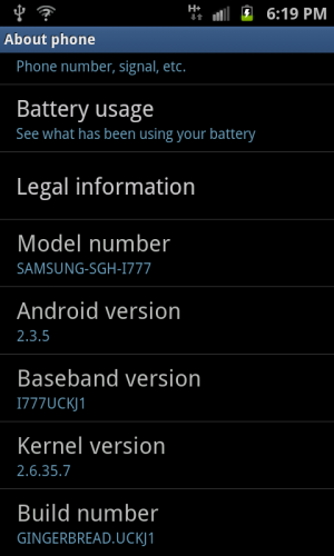 Unofficial Samsung Galaxy S II Firmware Update