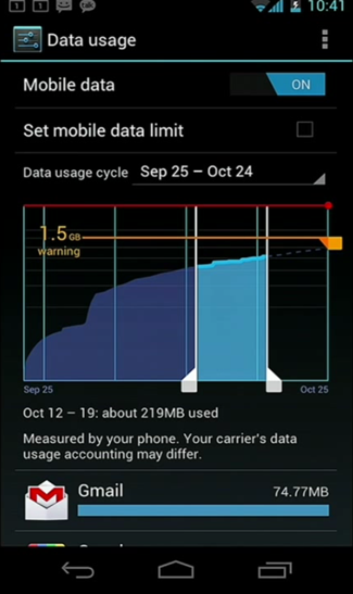 Control Mobile Data Usage
