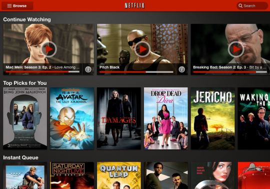 Netflix working on the HP TouchPad running CM9