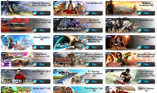 Gameloft Games Released in 2012
