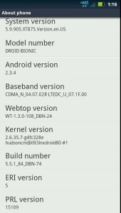 Droid Bionic 5.9.905 Update