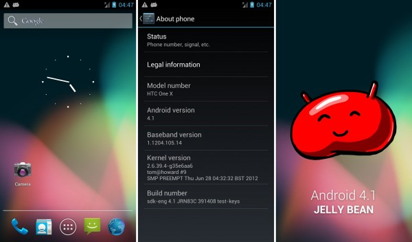 Jelly Bean on the HTC One X