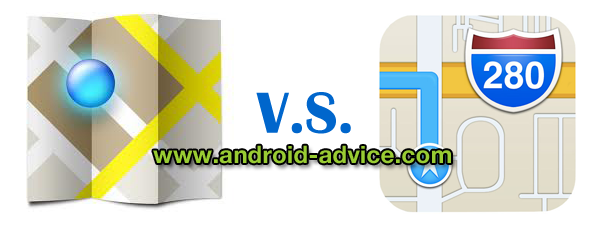 google maps android vs ios6