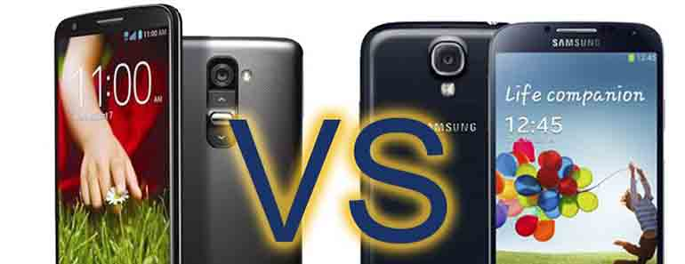 LG's G2 verses the Samsung Galaxy S4