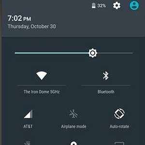 Android 5 lollipop quick settings