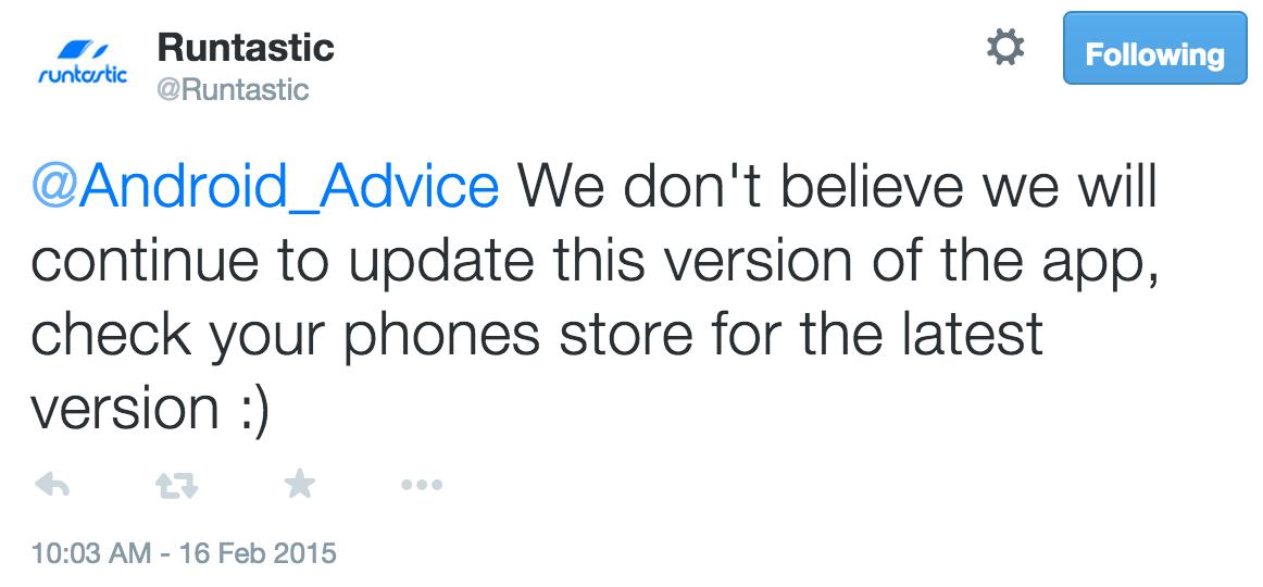 Runtastic Pro Amazon App Update